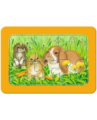Primul Meu Puzzle Ravensburger - Animalute, 3X6 Piese