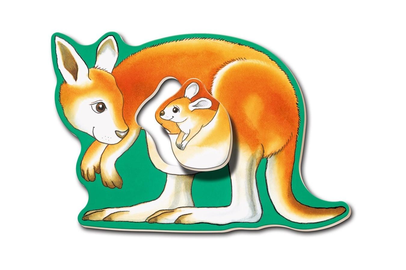 Primul Meu Puzzle Ravensburger - Animalute, 6X2 Piese