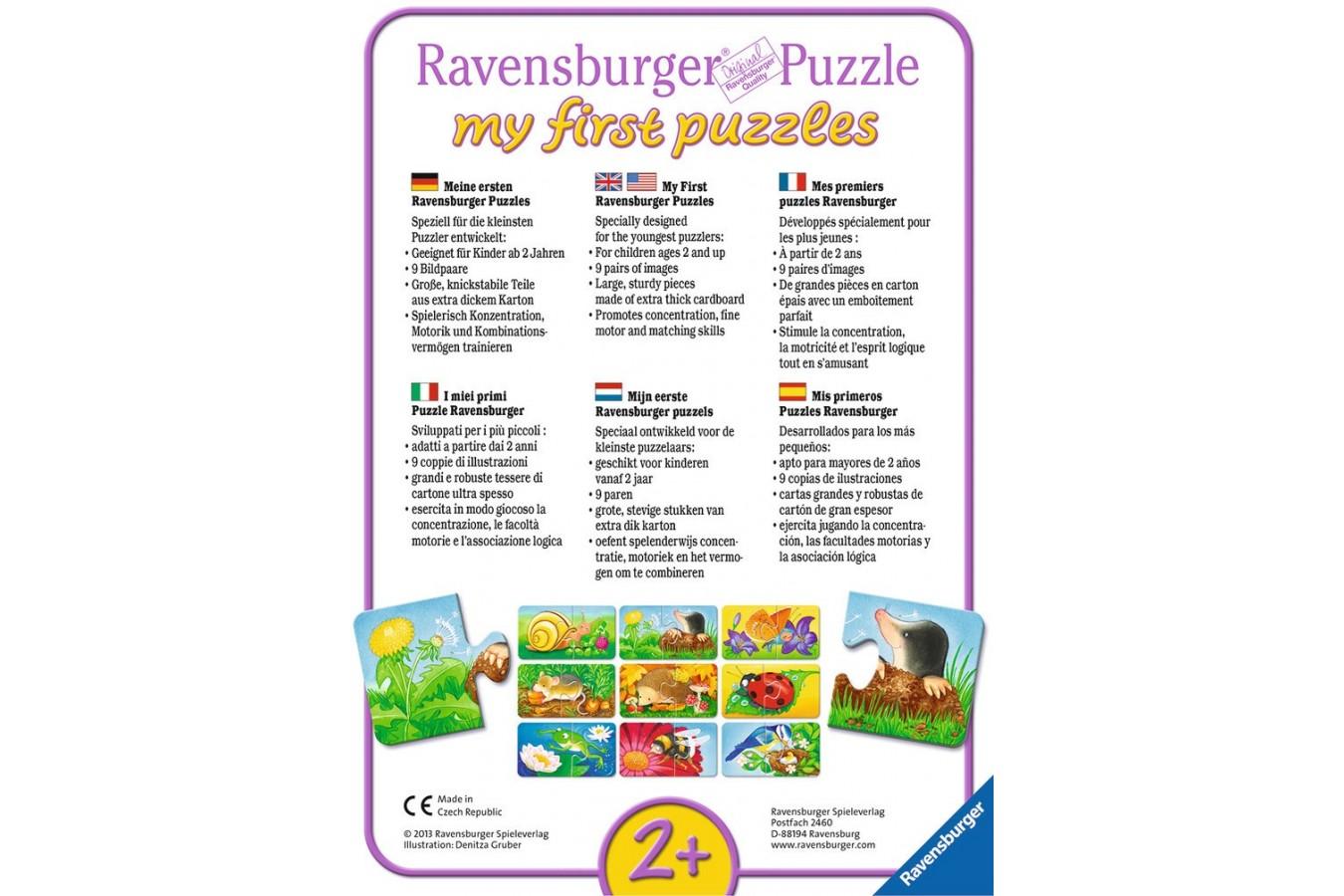 Primul Meu Puzzle Ravensburger - Animalute, 9X2 Piese