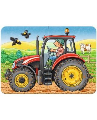 Primul Meu Puzzle Ravensburger - Utilaje Agricole, 2/4/6/8 Piese