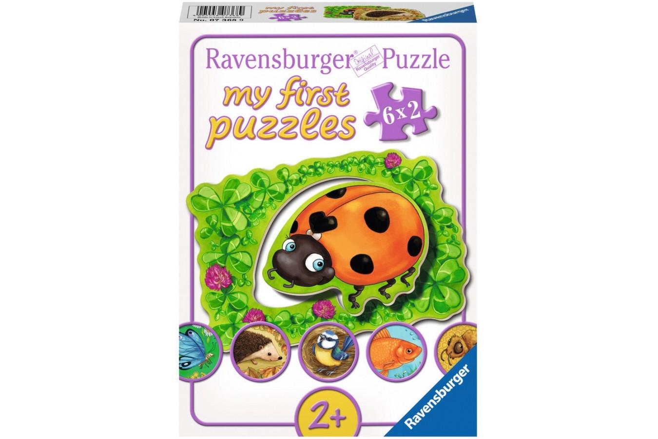 Primul Meu Puzzle Ravensburger - Viata Animalutelor, 6X2 Piese