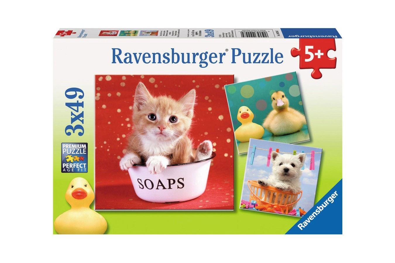 Puzzle Ravensburger - Animale Adorabile , 3x49 piese (09248)