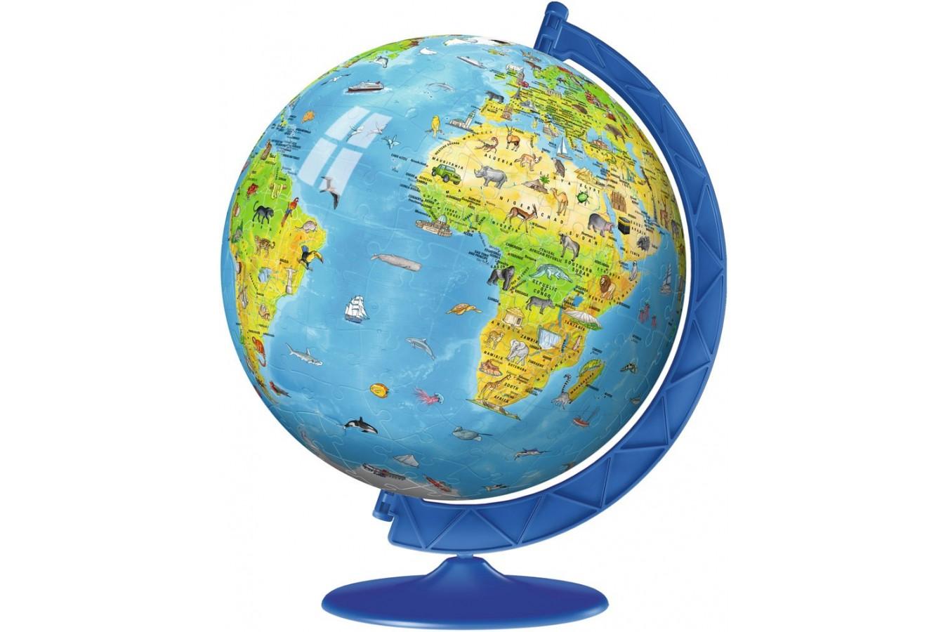 Puzzle 3D Ravensburger - Globul Lumii, 180 Piese