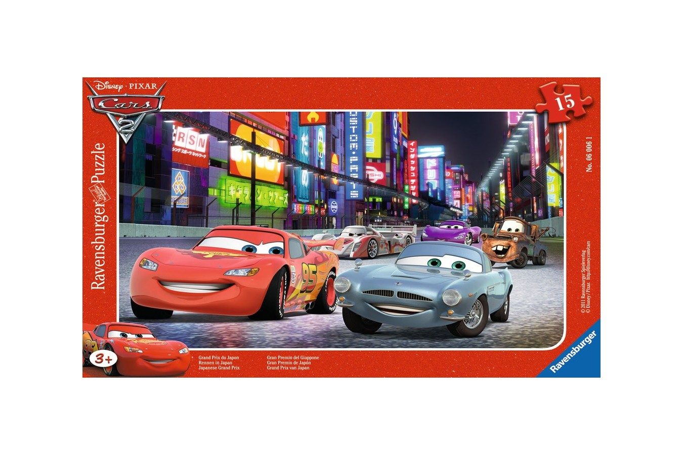 Puzzle Ravensburger - Cars, 15 Piese