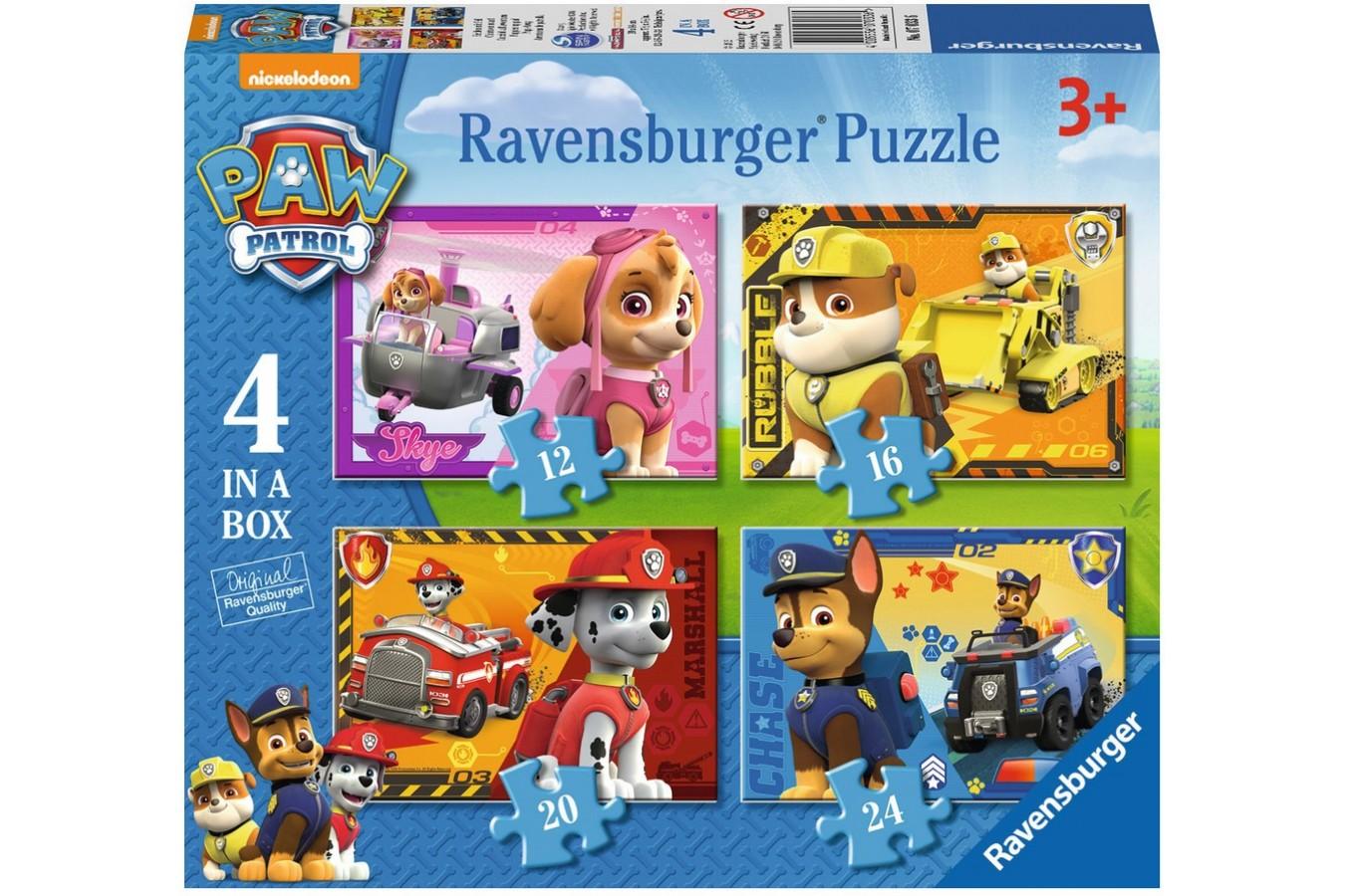 Puzzle Ravensburger - Patrula Catelusilor, 12/16/20/24 Piese
