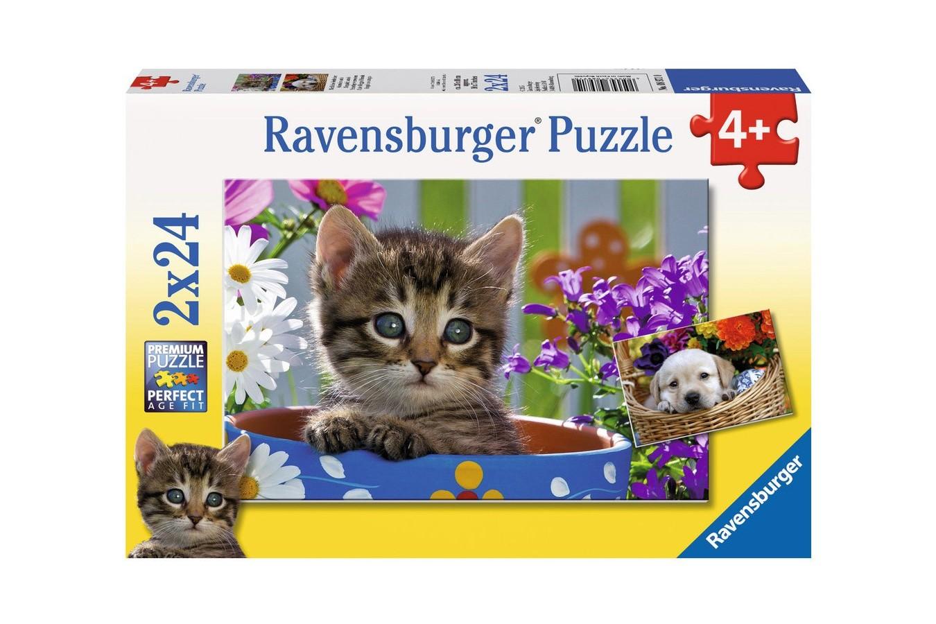Puzzle Ravensburger - Pisicuta, 2X24 Piese