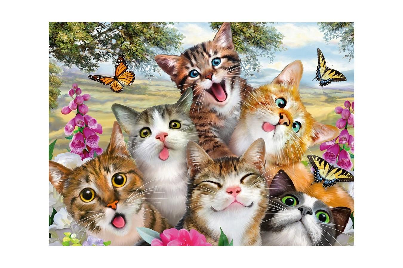 Puzzle Ravensburger - Pisicute Amuzante, 200 Piese