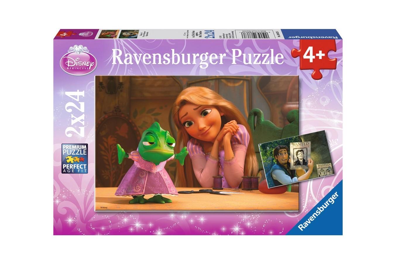 Puzzle Ravensburger - Rapunzel, 2X24 Piese
