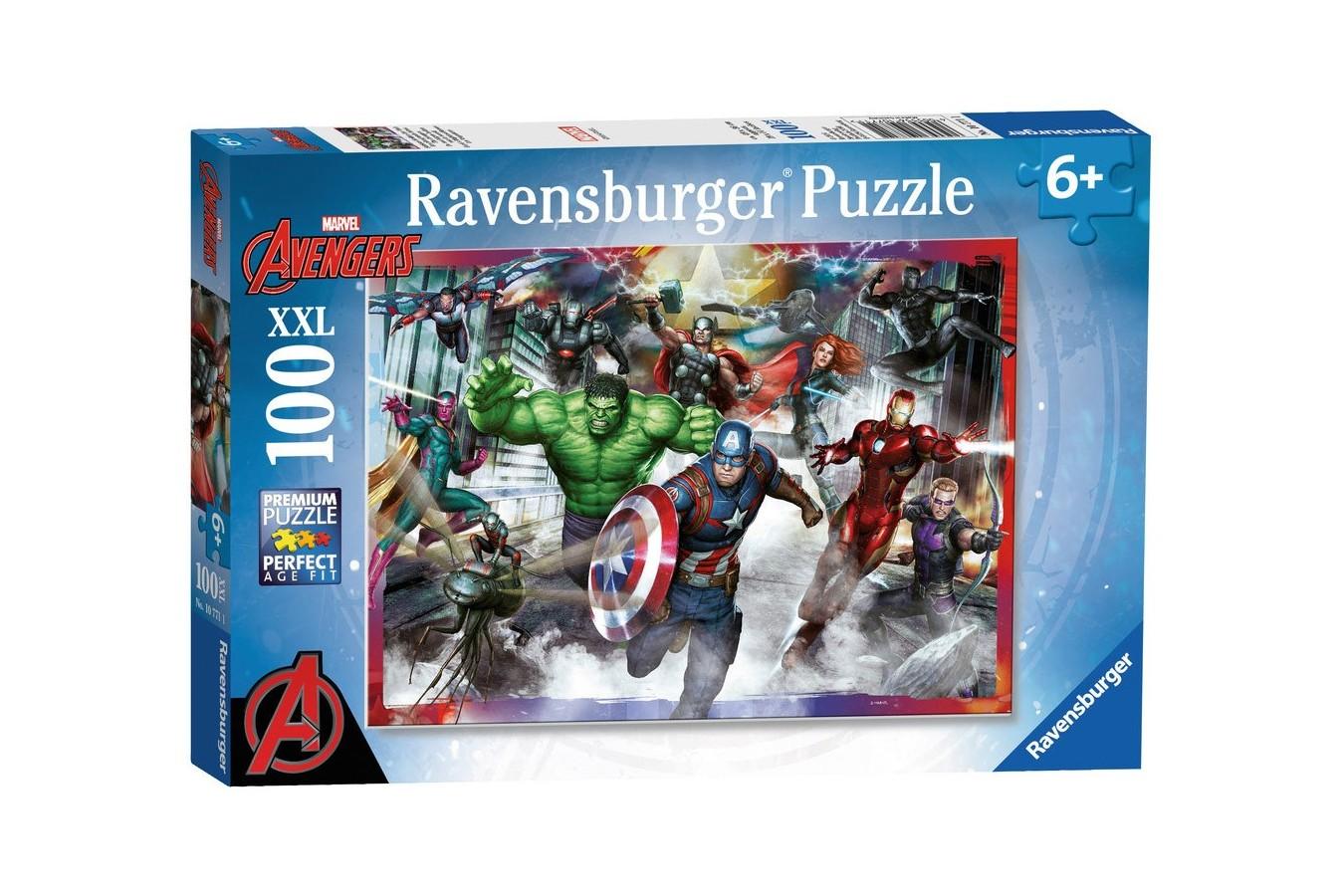 Puzzle Ravensburger - Razbunatorii, 100 Piese