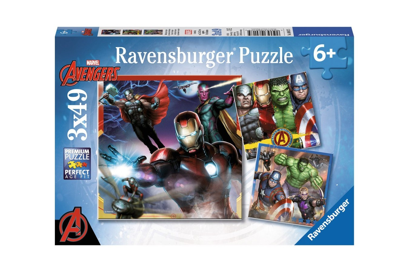 Puzzle Ravensburger - Razbunatorii, 3X49 Piese