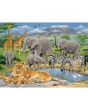 Puzzle Ravensburger - Animale In Africa, 200 piese (12736)