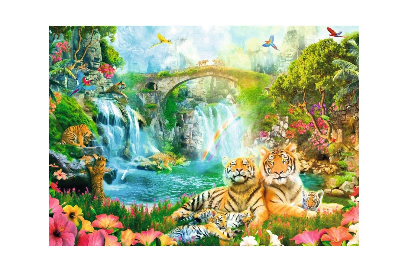 Puzzle Ravensburger - Tigri, 1000 Piese