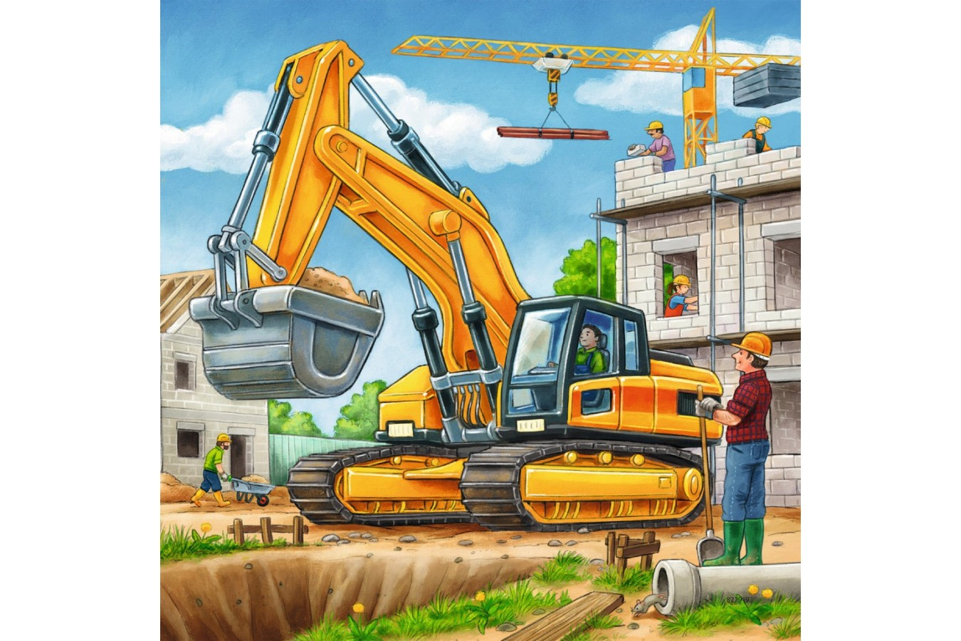 Puzzle Ravensburger - Vehicule De Constructie, 3X49 Piese