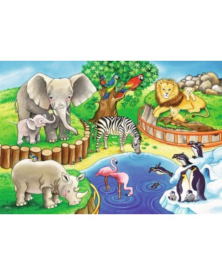 Puzzle Ravensburger - Zoo, 2X12 Piese