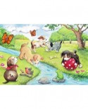 Puzzle Ravensburger - Animale Jucause, 2x24 piese (09194)
