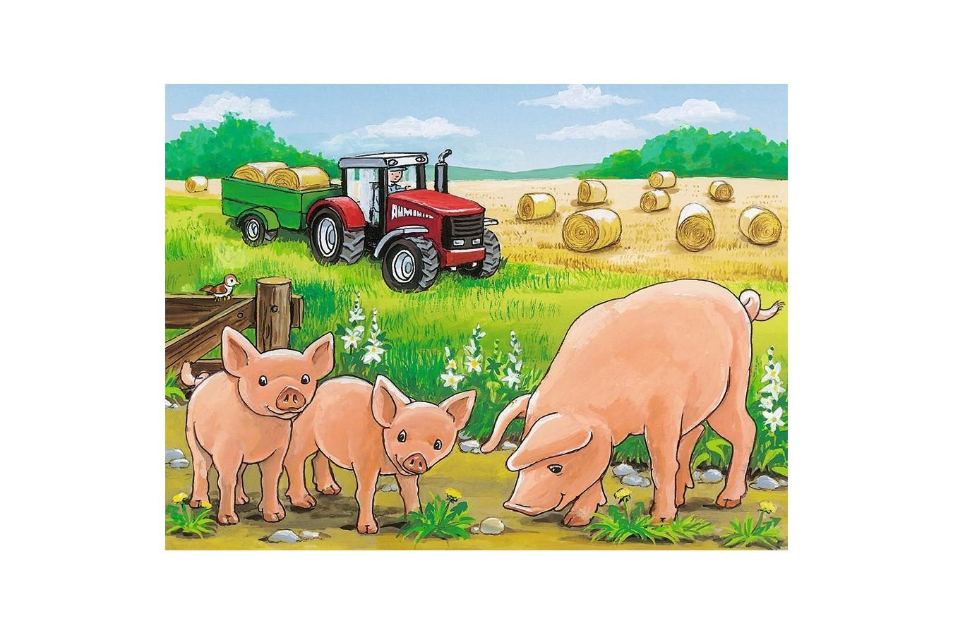 Puzzle Ravensburger - Animale La Ferma, 12 piese (07471)