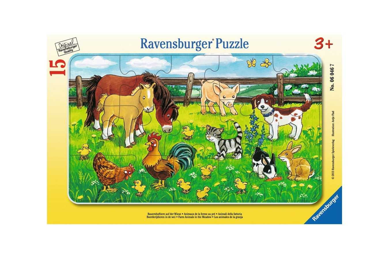Puzzle Ravensburger - Animale Pe Pajiste, 15 piese (06046)