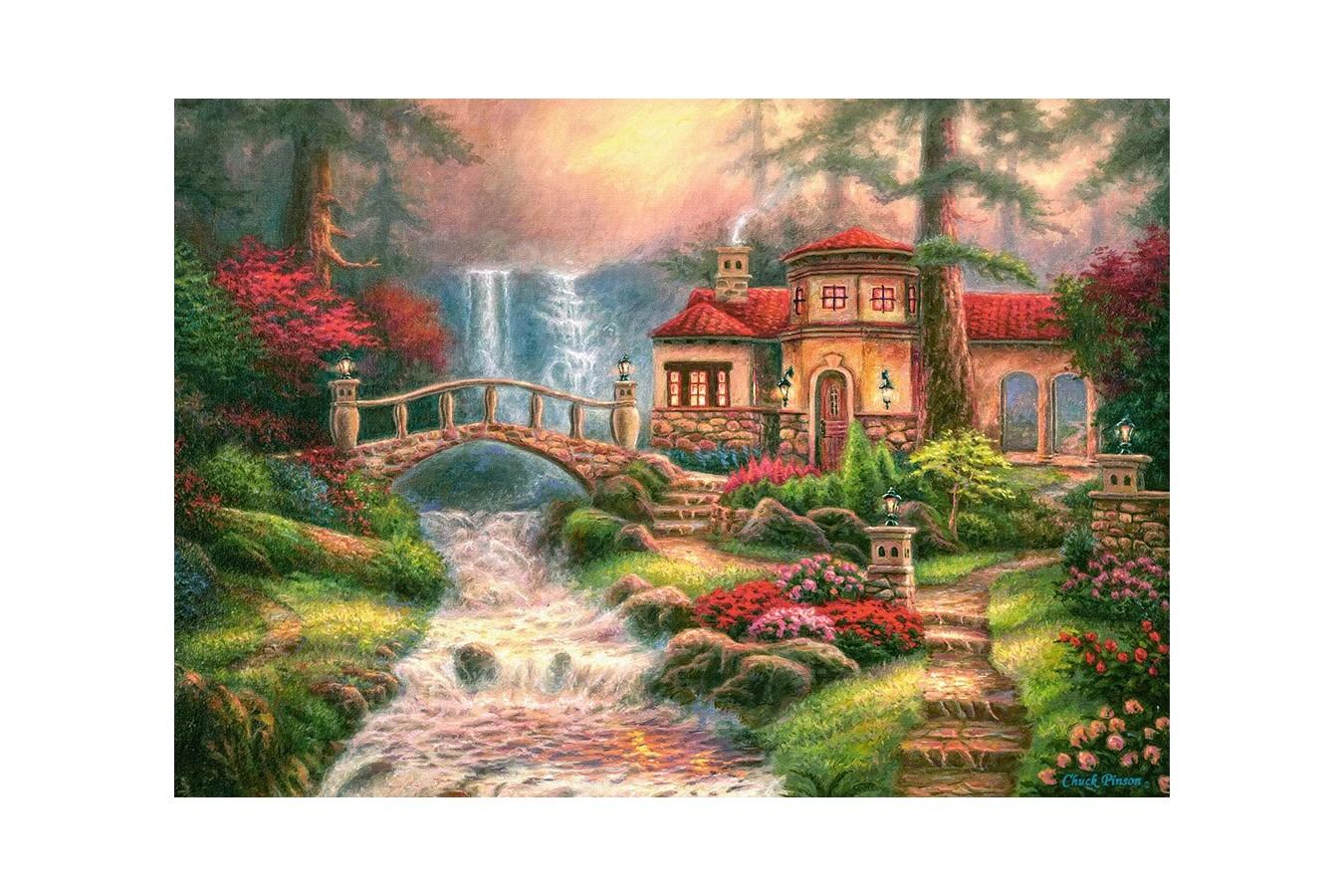 Puzzle Castorland - Sierra River Falls, 500 piese