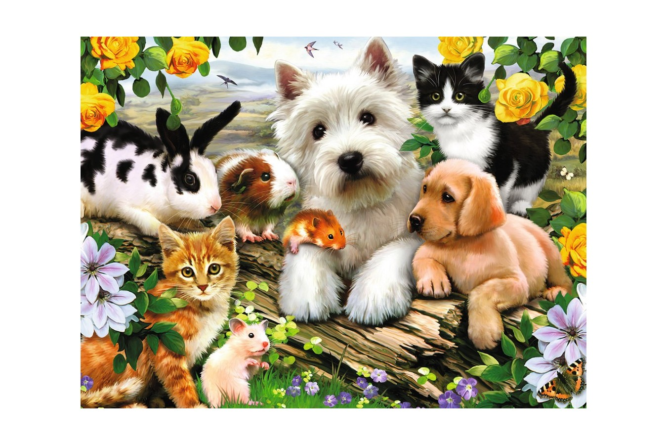 Puzzle Ravensburger - Animale Prietenoase, 300 piese (13160)