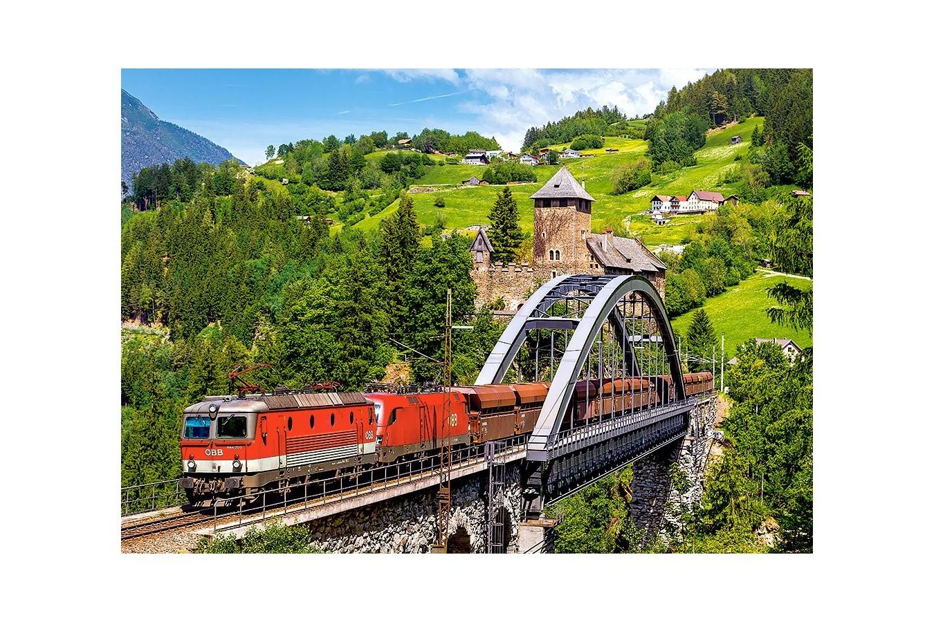 Puzzle Castorland - Train on the Bridge, 500 piese