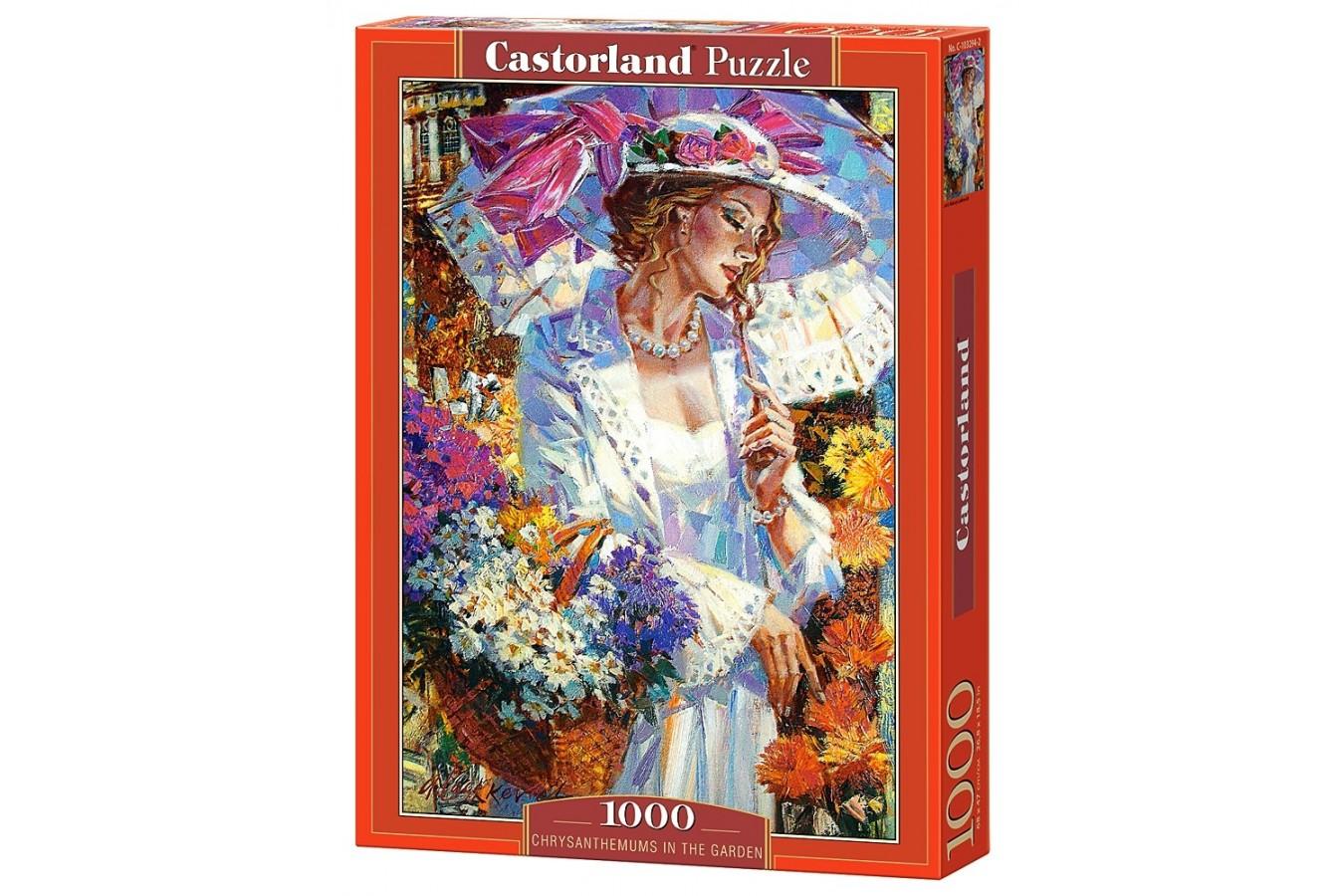 Puzzle Castorland - Chrysanthemums in the Garden, 1000 piese