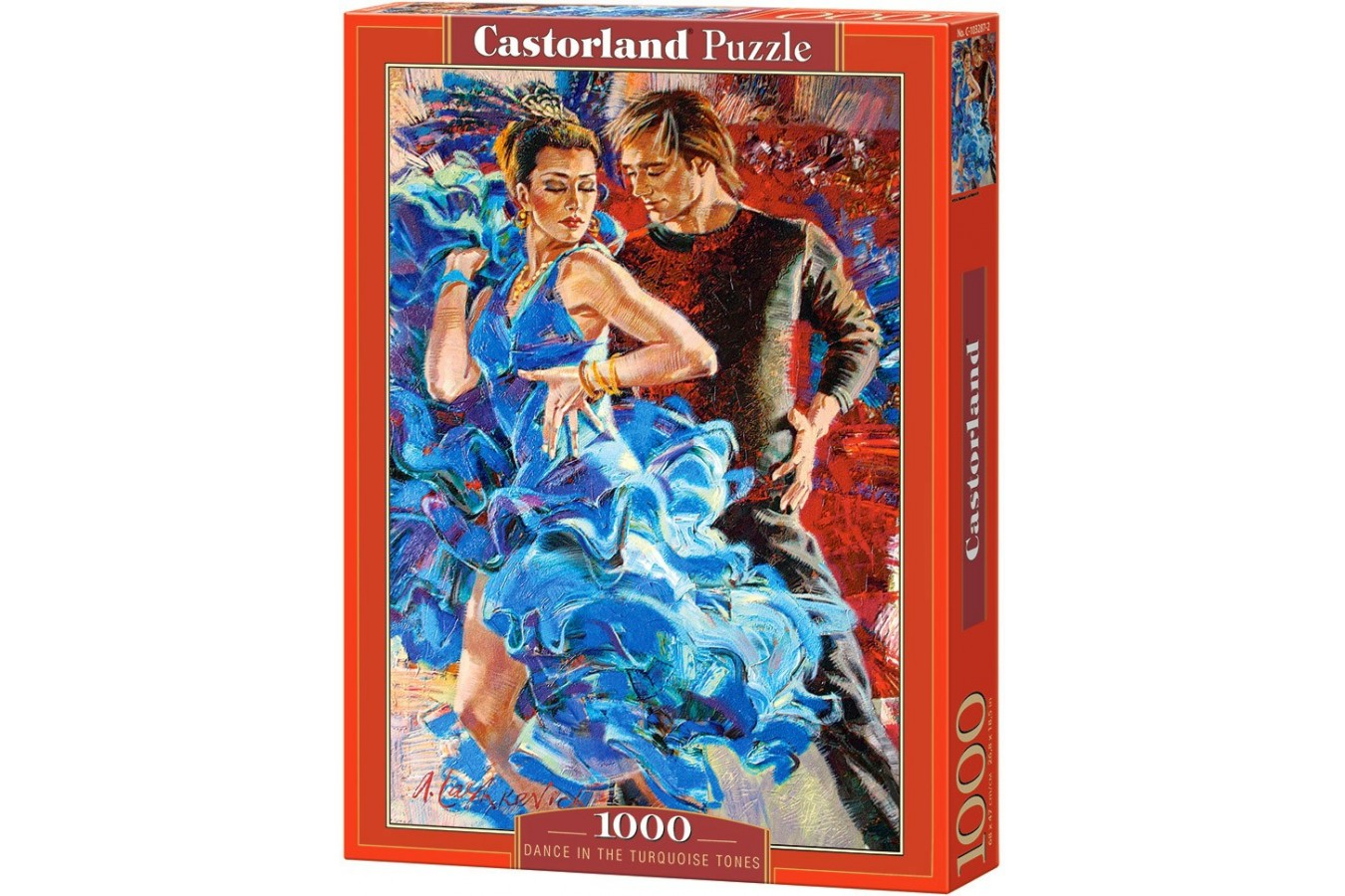Puzzle Castorland - Dance in the Turqoise Tones, 1000 piese