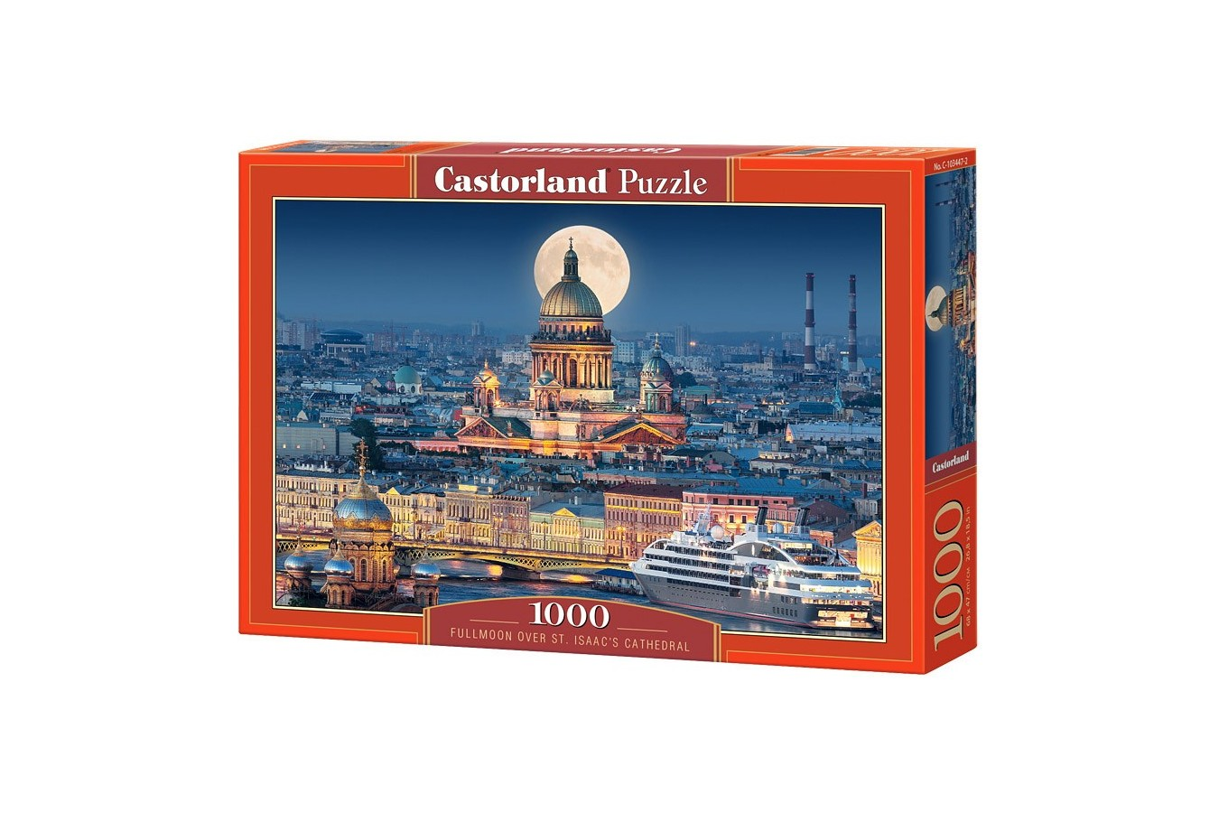 Puzzle Castorland - Fullmoon over St Isaac's Cathedral, 1000 piese