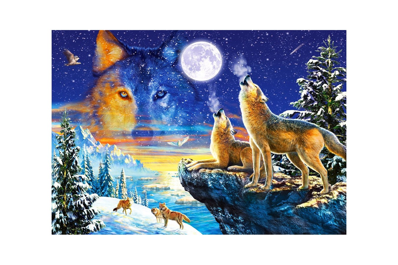 Puzzle Castorland - Howling Wolves, 1000 piese