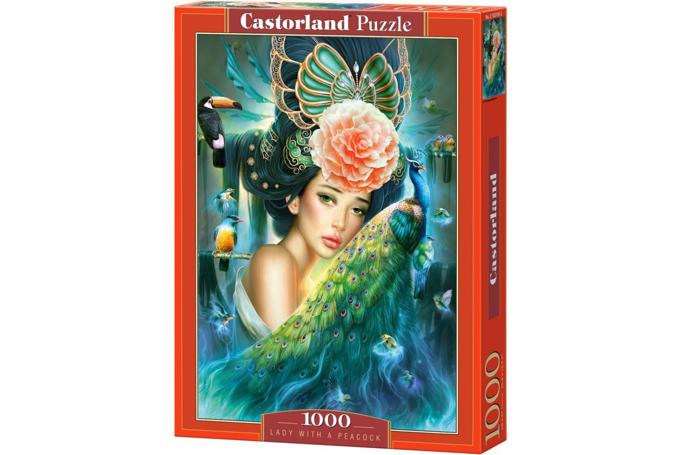 Puzzle Castorland - Lady with a Peacock, 1000 piese
