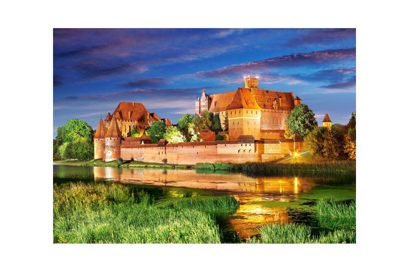 Puzzle Castorland - Malbork Castle Poland, 1000 piese
