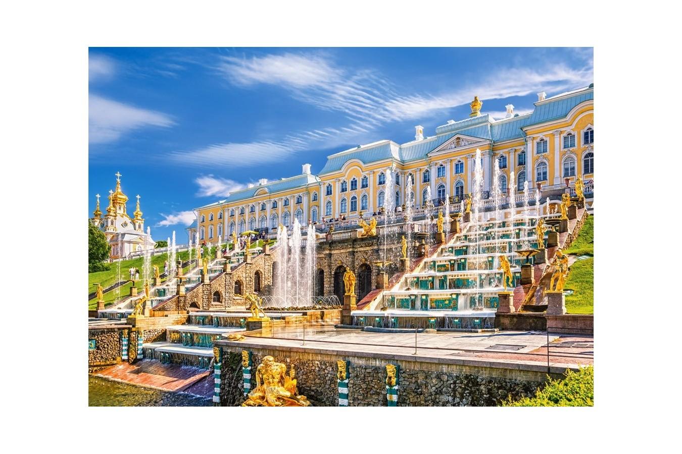 Puzzle Castorland - Palatul Peterhof - Rusia, 1000 piese