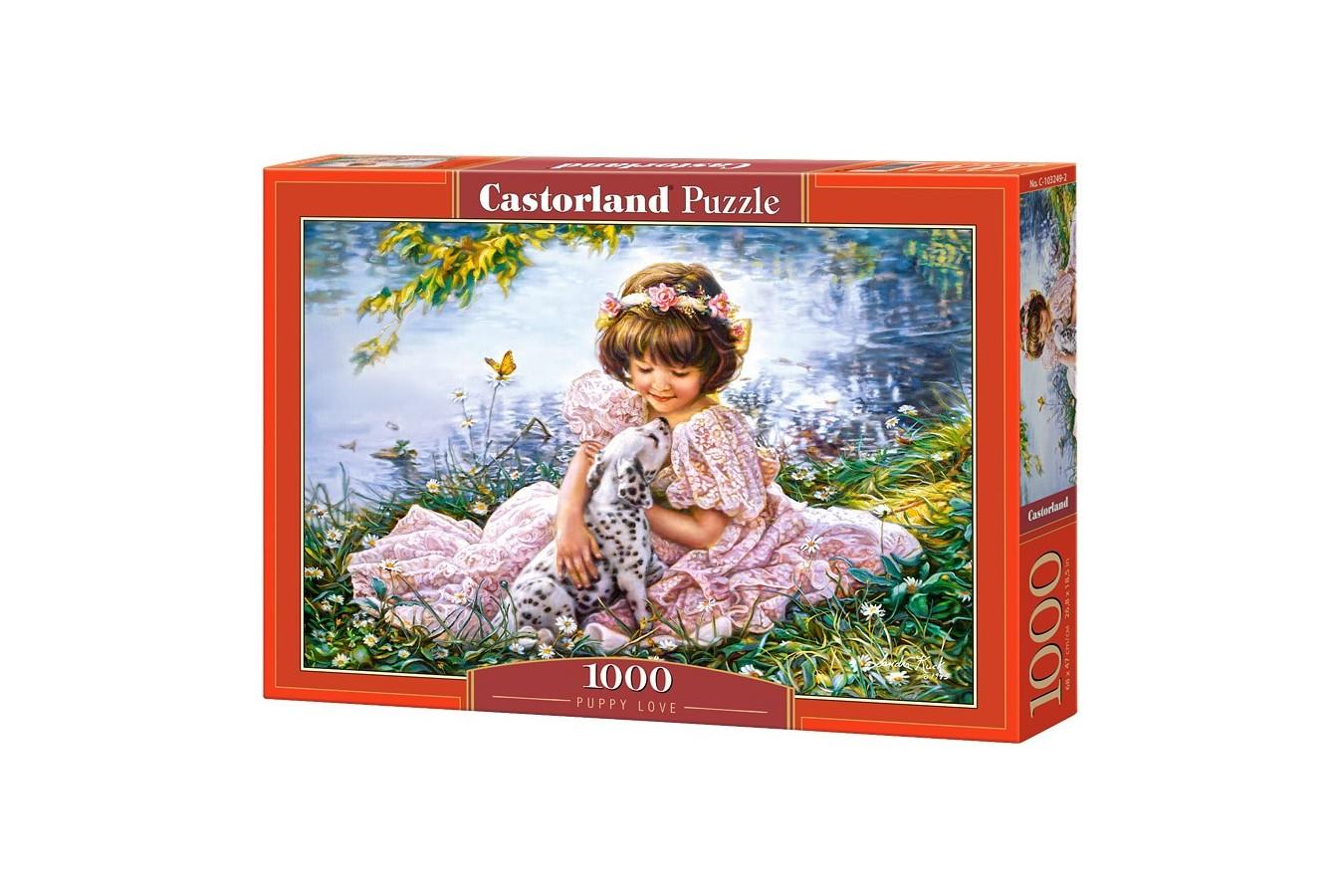 Puzzle Castorland - Puppy Love, 1000 piese