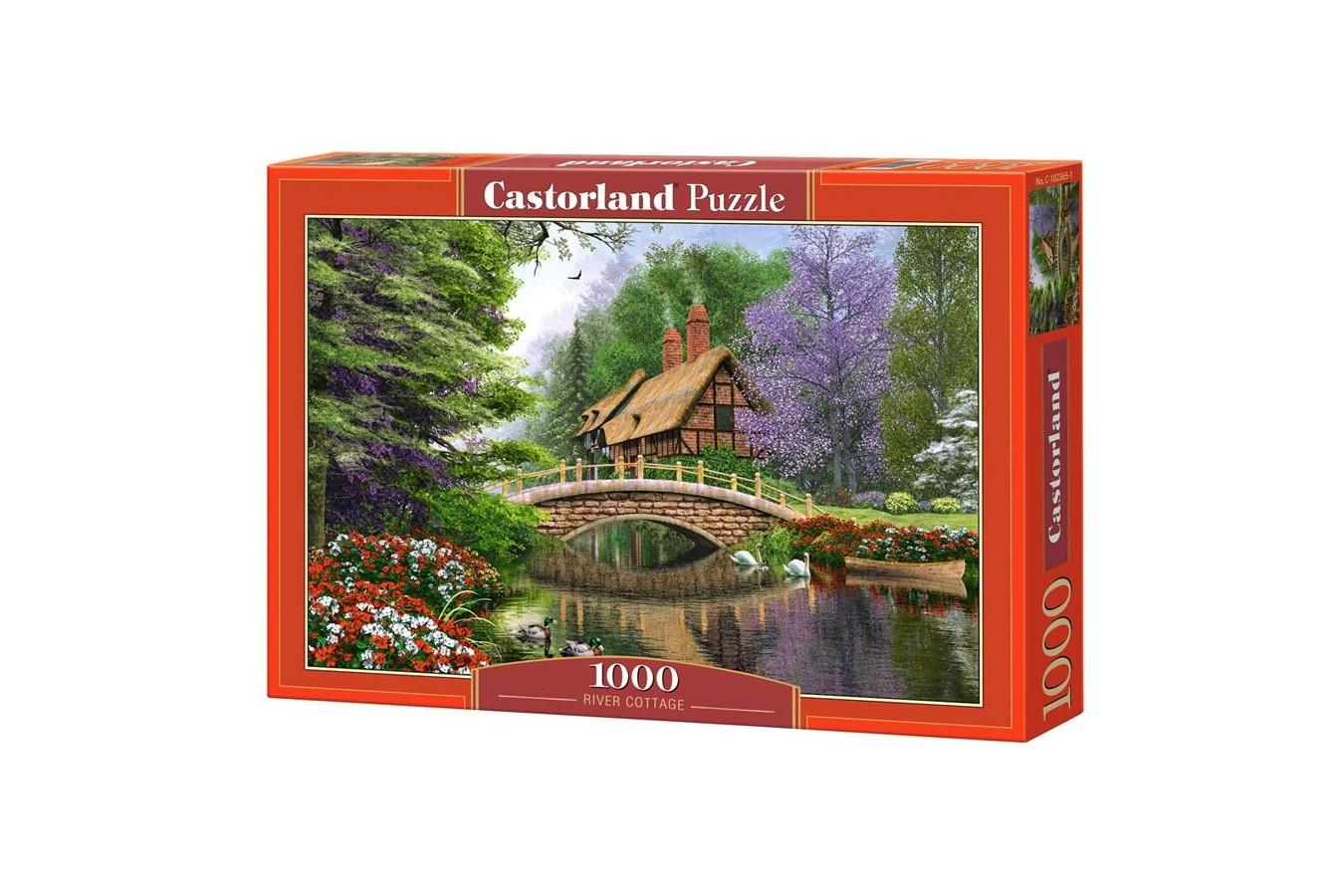 Puzzle Castorland - River Cottage, 1000 piese
