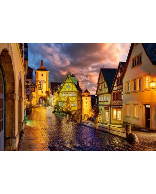 Puzzle Castorland - Rothenburg at Night, 1000 piese