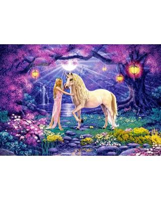 Puzzle Castorland - Unicorn Garden, 1000 piese