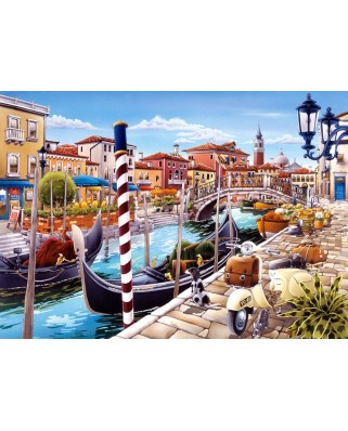 Puzzle Castorland - Venetian Canal in Italy, 1000 piese