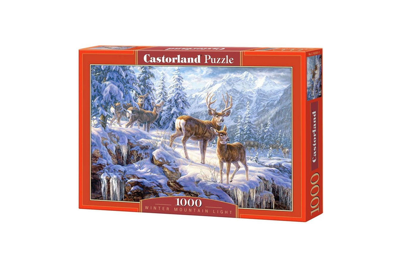Puzzle Castorland - Winter Mountain Light, 1000 piese