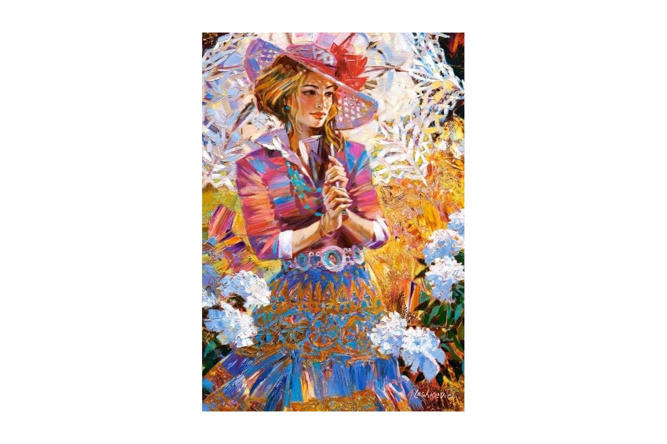 Puzzle Castorland - A Girl with an Umbrella Open Work, 1500 piese