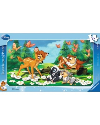 Puzzle Ravensburger - Bambi, 15 piese (06039)