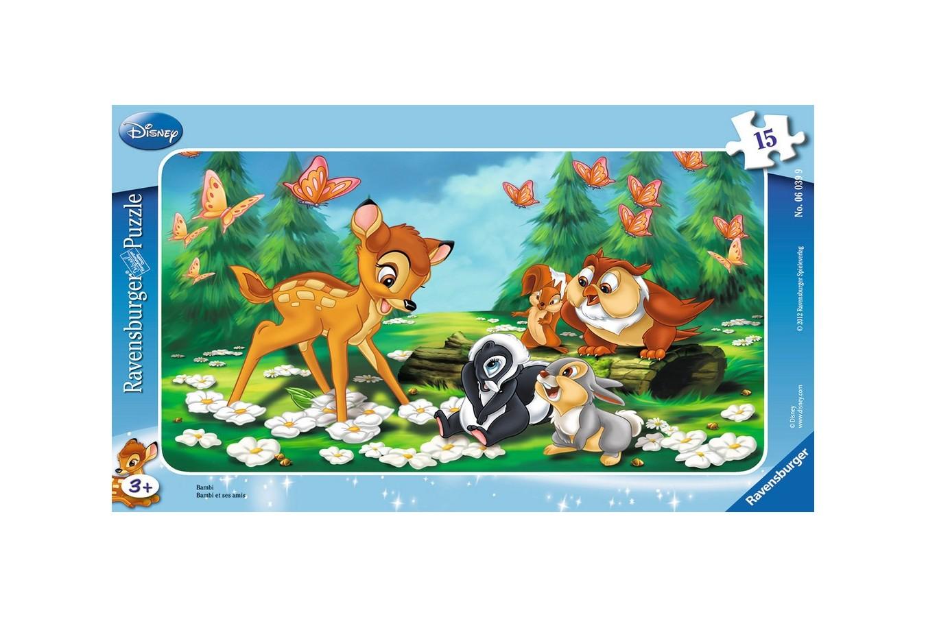 Puzzle Ravensburger - Bambi, 15 piese (06039)