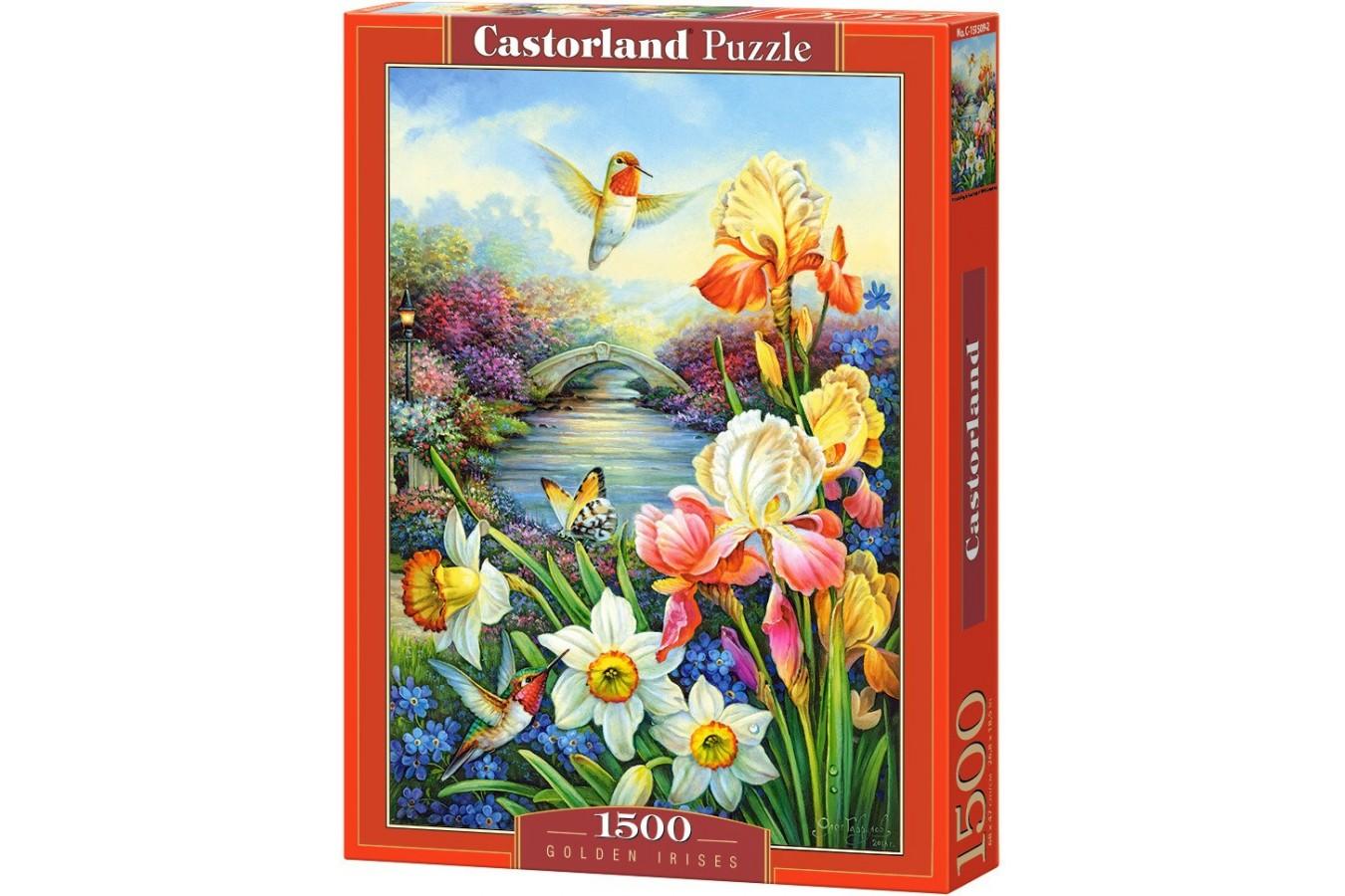 Puzzle Castorland - Golden Irises, 1500 piese