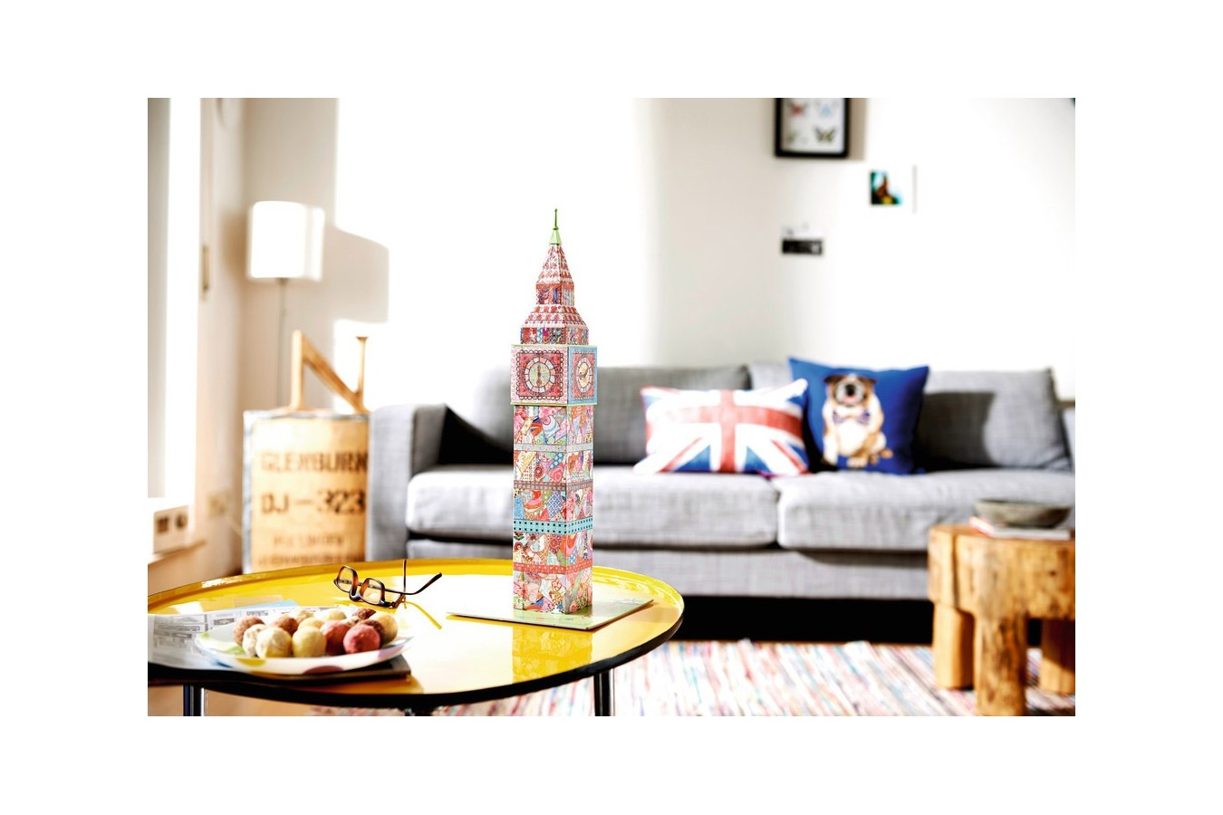 Puzzle 3D Ravensburger - Big Ben Colorat, 216 piese (12569)