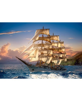 Puzzle Castorland - Sailing at Sunset, 1500 piese