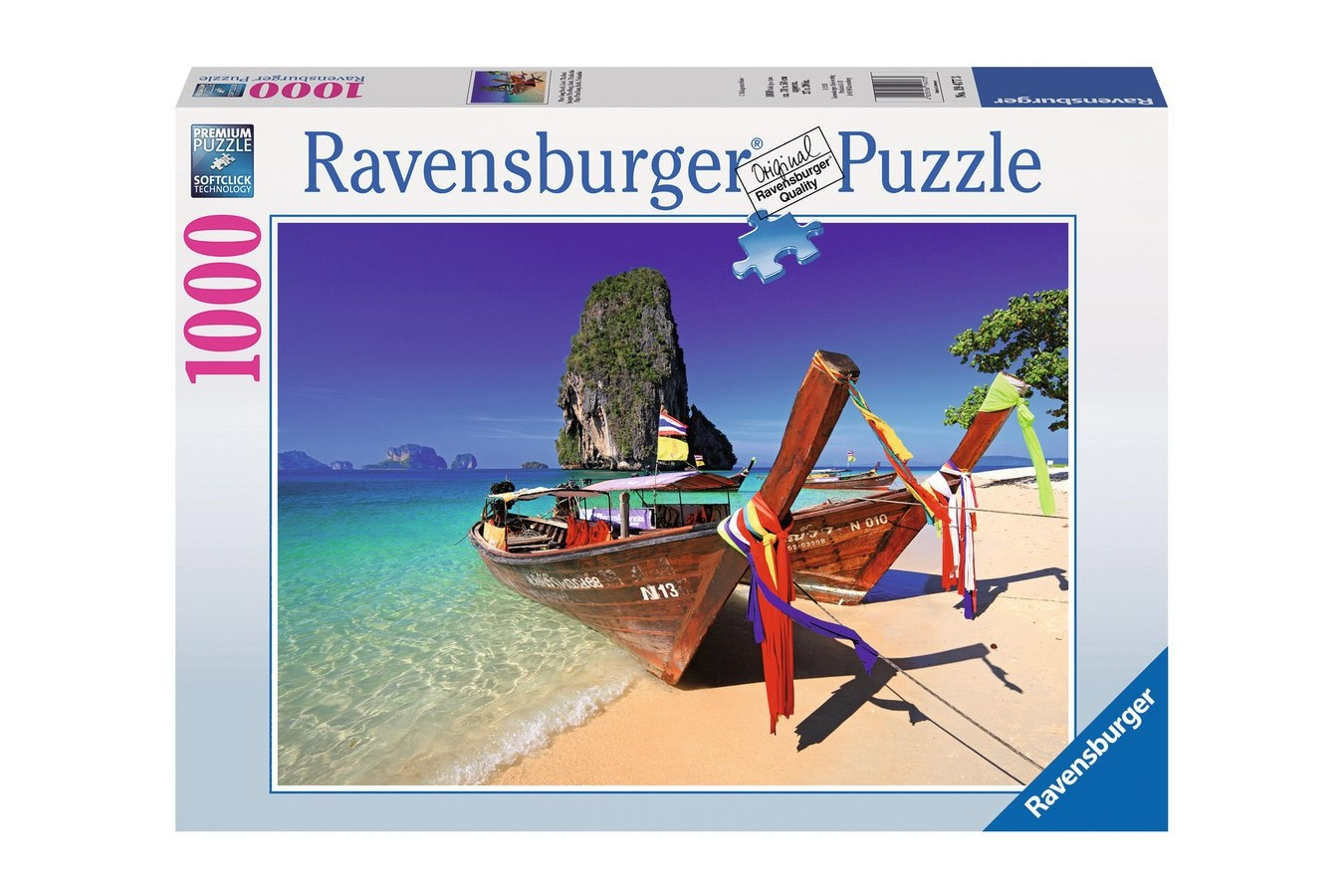 Puzzle Ravensburger - Barcuta Pe Plaja, 1000 piese (19477)