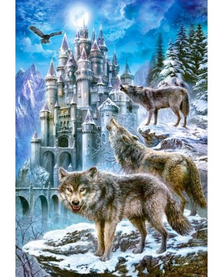 Puzzle Castorland - Wolves and Castle, 1500 piese