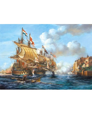 Puzzle Castorland - Copy of Battle of Porto Bello (5904438200245), 2000 piese