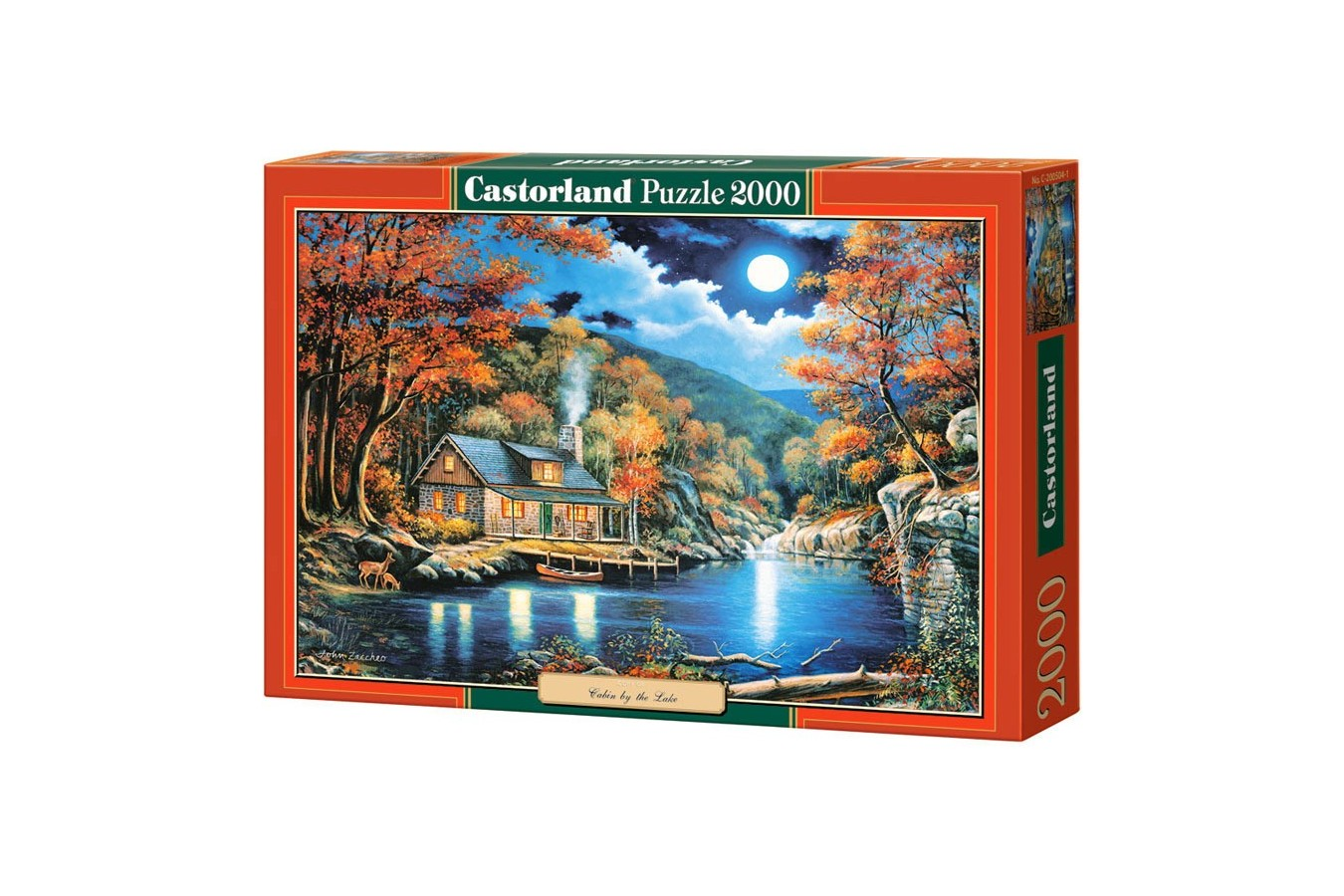 Puzzle Castorland - Copy of Cabin by the Lake, 2000 piese