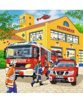 Puzzle Ravensburger - Brigada De Pompieri, 3x49 piese (09401)
