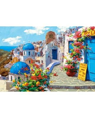 Puzzle Castorland - Spring in Santorini, 2000 piese