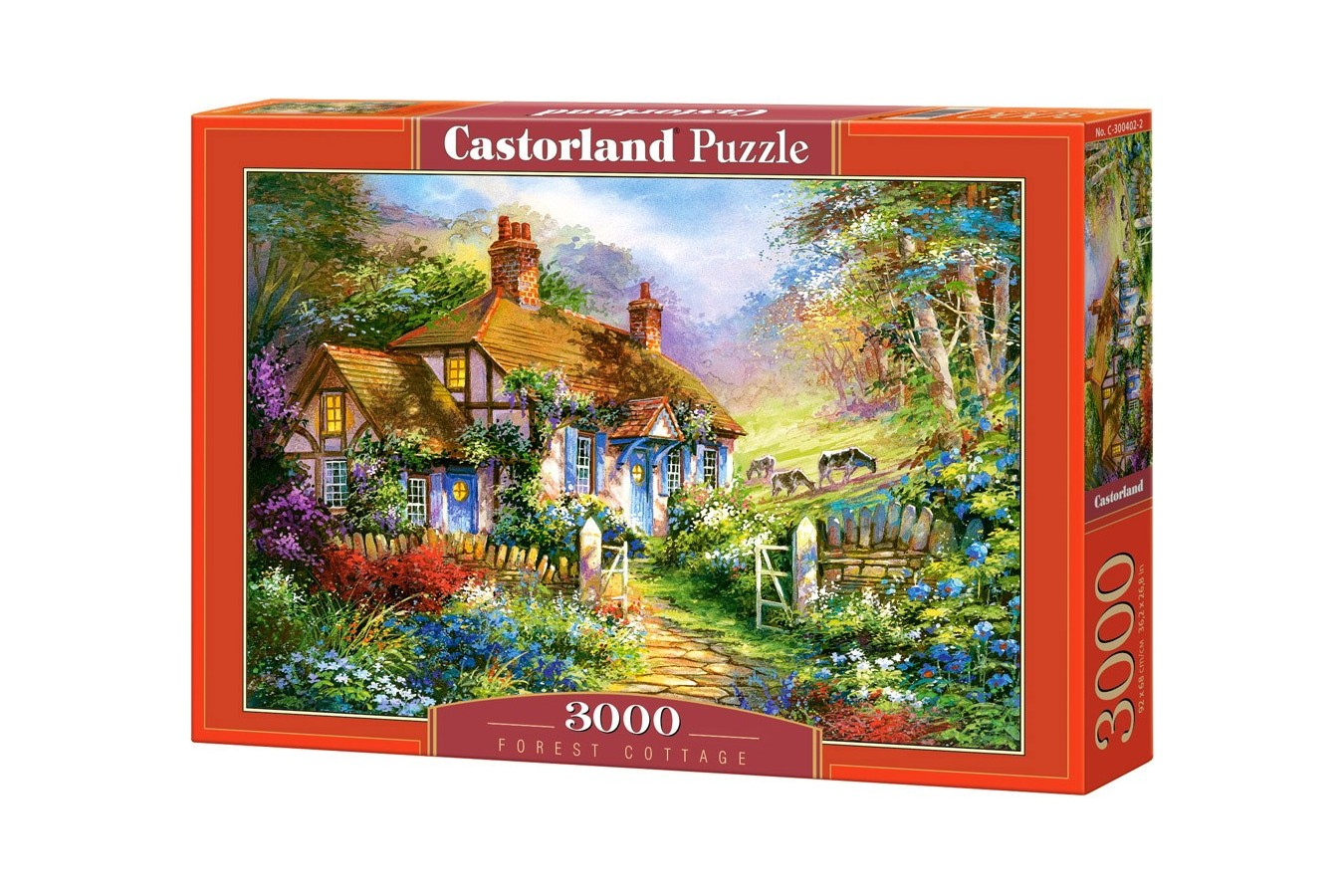 Puzzle Castorland - Forest Cottage, 3000 piese
